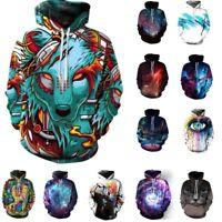 Women's Men's 3D Graphic Printed Sweatshirt Pullover Hoodies Tops Fashion New