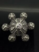 Antique Brooch silver puffy Victorian Very Interesting work Aesthetic circs1890s