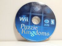 Puzzle Kingdoms Wii Disc Only! Cleaned and Tested!