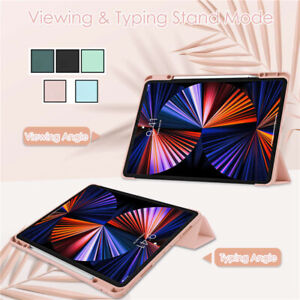 For iPad Pro12.9 2018 2020 2021 4th 5th Gen Case TPU PU Leather Flip Folio Cover
