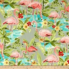 Flamingo Fabric, Waverly Sun N Shade Flamingoing Platinum Outdoor Fabric by yard