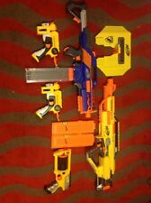 Lot Of 5 Nerf Guns With Extra Clips And Sheild