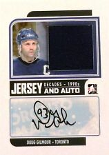 13-14 decades 90s doug gilmour maple leafs game used jersey autograph auto