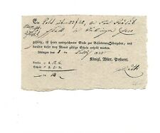Württemberg/Aldingen Den 8ten Jully 1825, Querform. Ortsdruck-Postschein