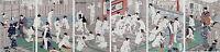 Set 6x 16x24 LARGE Japanese Woodblock Prints repro Women in Bathhouse Bath Decor