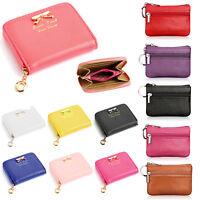 Women Mini Wallet Change Coin Purse Ladies Card Key Holder Zip Bag Case Clutch