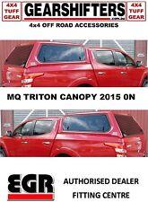 EGR CANOPY MITSUBISHI TRITON  MQ 2015 ONWARDS 4WD 4X4 4X2 FREE FREIGHTaa