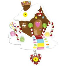 """""""GINGERBREAD HOUSE"""" Personalized Christmas Tree Ornament"""