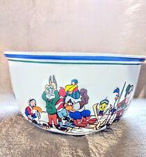 "Vtg 1994 Warner Bros Looney Tunes Valley Ski Lodge 11"" Popcorn Lg Serving Bowl"