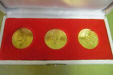 3 Stck DDR Medaillen - MfS - Ministerium für Staatssicherheit - goldfarben - 1.