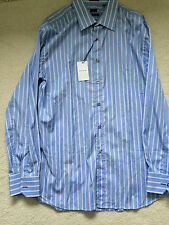 Paul Smith LONDON LS Corte Clásico Franjas Azules Camisa talla 16.5/42 p2p