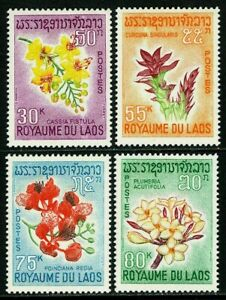Laos 152-155, MNH. Blossoms. Trees and Flowers, 1967. x33649