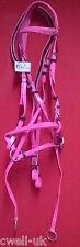 NUOVO biothene ** Cross Over ** Bitless Briglia con WEB Grip Redini-completo (rosa)