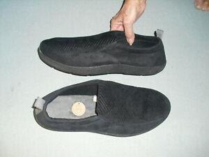 NEW Dearfoams Mens Comfort Slippers Indoor / Outdoor Soles Sz XL 13 - 14 Black
