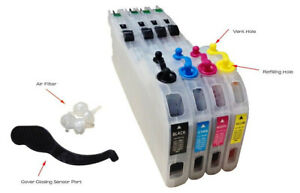 Brother LC 101 103 Refillable Cartridges Starter pack with Bulk Ink Refill
