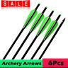 "16-22"" Aluminum Archery Crossbow Arrows Bolts Target Tips Hunting Shooting 6pcs"