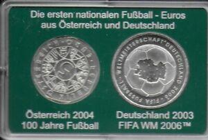 Die ersten Nationalen Fußball-Euros 5 Österreich und 10 Deutschland 2006