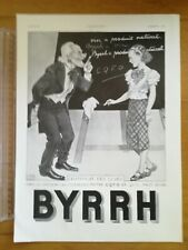 PUBLICITE ANCIENNE PUB ADVERT 1936 BYRHH vieil homme et institutrice