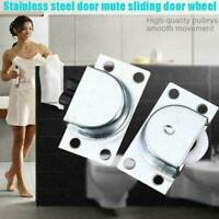 Sliding Door Wheel Stainless Steel Furniture Cabinet Wheels Roller Doors New