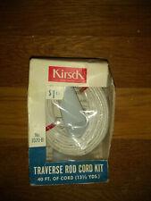 Vintage Kirsch No. 1070-B Traverse Rod Cord Kit 40 Feet Nos