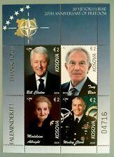 Kosovo Stamps 2019. CLINTON USA President, BLAIR, ALBRIGHT, CLARCK NATO. Set MNH