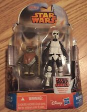 Hasbro Star Wars Rebels ROTJ Wicket W. Warrick and Biker Scout Action Figures