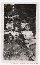 PHOTO Pochette en cuir Appareil Photographié Caméra Étui Famille Forêt 1950