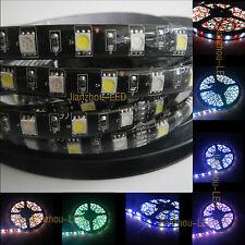 12V 5M 300LEDs Black PCB 5050 RGB+White RGBW LED Strip RGBW EPOXY Waterproof