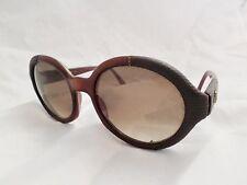 EMMANUELLE KHANH vintage red lizard leather round sunglass eyeglass frames