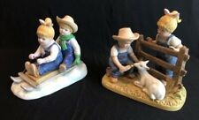 denim days figurines Winter Fun And Baby Goat #8807