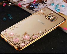 Diamond Flower Slim Clear Case Cover For Samsung Galaxy S9 S7 Edge S10 Note 10+