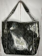 Michael Kors Silver Metallic Purse With Silver Chain Large Rare Gift For Her ML