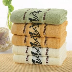 Soft 100% Bamboo Washcloths Face Hand Bath Towel Gym Absorbent Drying Thick