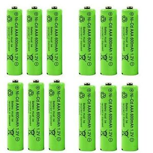 AAA Rechargeable Batteries 1.2v 600mAh Ni-cd Very Latest Type Fast and Free UK
