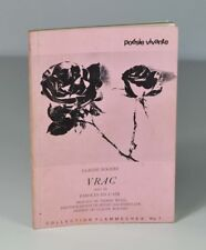 """ROGERE Claude """"Vrac, suivi de Paroles en l'air"""" Poésie vivante, 1969. Envoi."""
