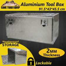Tool Box Aluminium Tool Storage Large w Lock UTE Trailer Truck Heavy Duty Vehicl