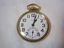 Elgin B.W. Raymond Antique 21J Gold Filled Railroad Pocket Watch  T*