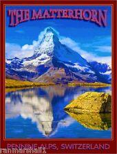 The Matterhorn Switzerland Alps Italy Europe Travel Art Advertisement Poster