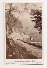 Vintage CDV Path by Loch Katrine Scotland G.W. Wilson Ph Aberdeen