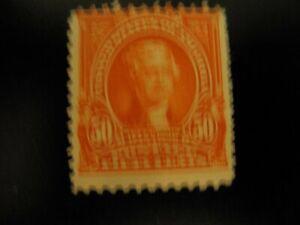 Scott # 310 .50 cent Jefferson Mint very light hinge