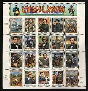 1995 Scott #2975 - 32¢ - CIVIL WAR - Full Sheet of 20 Stamps - Mint NH