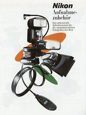 Prospekt Nikon Aufnahmezubehör 3 2001 Zubehörprospekt Zubehör Katalog