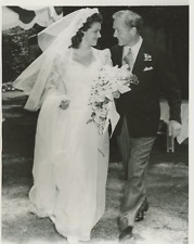 Diana Barrymore and Bramwell Fletcher, wedding 1942 Vintage silver print,Diana