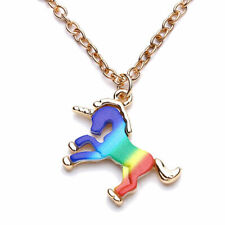 Magical Unicorn Charm Pendant Flying Horse Necklace Chain Jewellery Girls Gift