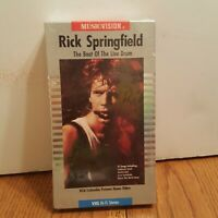 RICK SPRINGFIELD -THE BEAT OF THE LIVE DRUM -VHS - 1985 - MUSIC-VISION - New