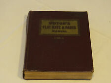 Motor's Flat Rate & Parts Manual 1964 36th Edition Chevrolet Buick Ford book