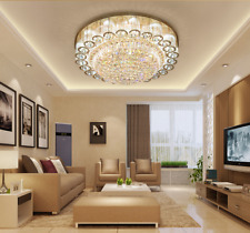 Modern K9 Crystals Chandelier Ceiling Light Lamp Fixture LED Home Decor 60cm