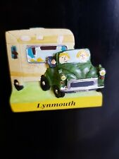 Lynmouth, Morris Minor & Caravan Fridge Magnet