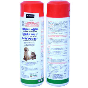 BAYER BOLFO Anti Tick and Flea Powder for Dogs & Cats 75g Bottle