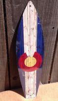 "Montana State Flag Mini Novelty Beach Surf Board Sign 17/"" x 4.5/"""